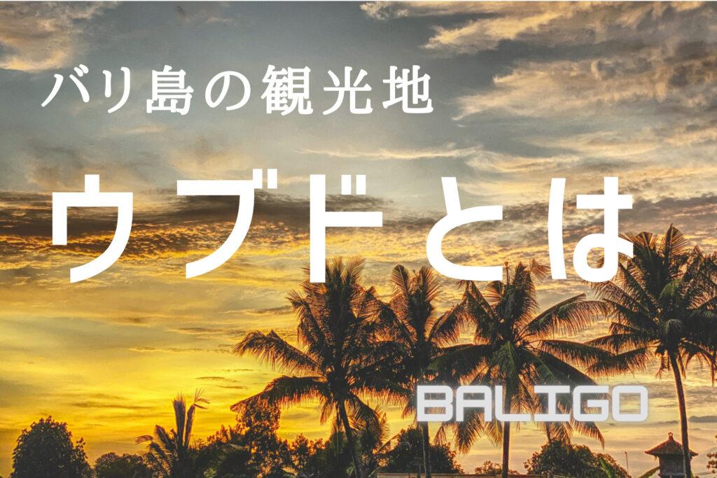 バリ島の観光地「ウブド」とは